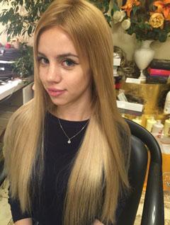 Наращивание коротких волос в Москве, фото до и после, цены недорого.