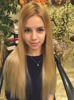 Наращивание коротких волос в Москве фото до и после.