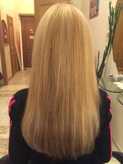 Наращивание на очень короткие волосы в Москве, фото до и после, цены недорого.