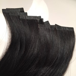 Сделать из волос ленточное наращивание